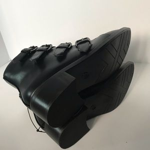 30b4d25ebc3 A New Day Nikko ankle combat moto studded boots NWT